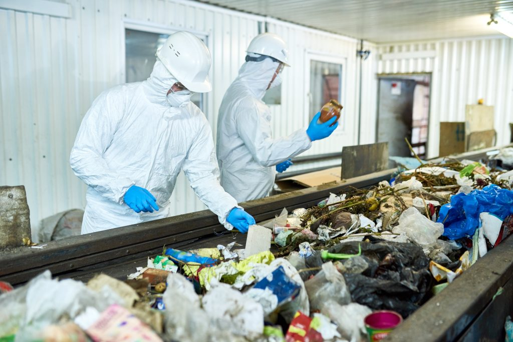 Sorting on Waste Recycling Plant